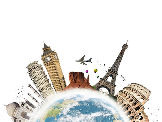 Част от големите световни забележителности - Айфеловата кула, Тадж махал, Колизеума и други.