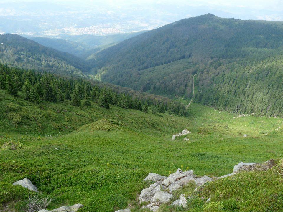 Стара планина от района на началото на Ком - Емине, връх Ком.