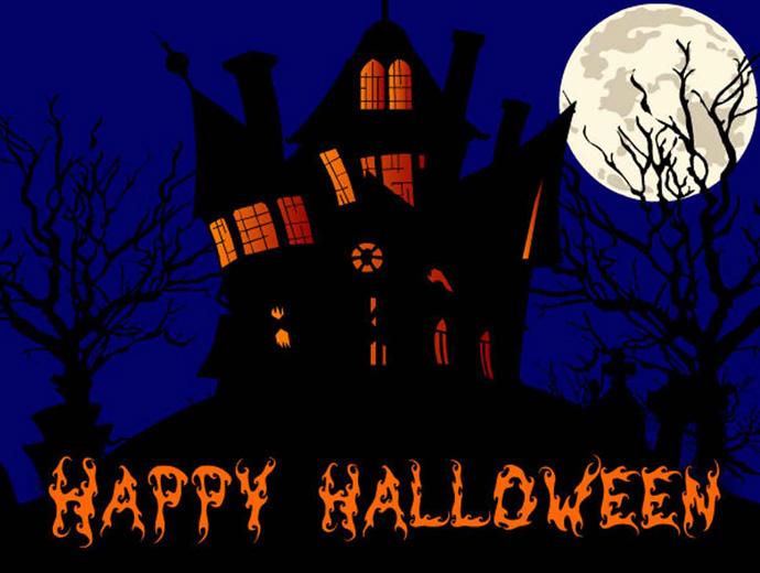 Призрачна къща - един от символите на Хелоуин.