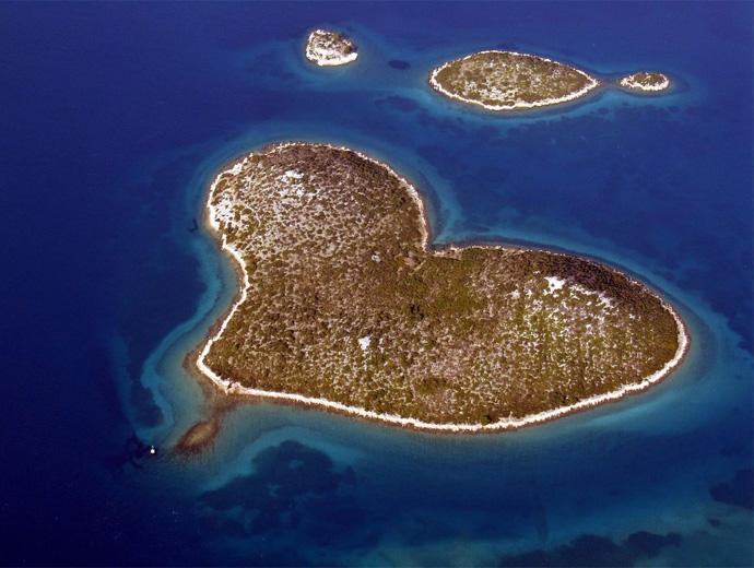 Островът с форма на сърце - Галешняк в Хърватска