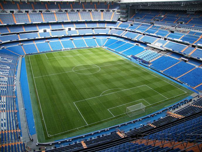 Сантяго Бернабеу - вторият по капацитет стадион в Европа и дом на Реал Мадрид. Поглед отвътре.