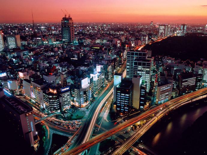 Малка част от космополитния Токио