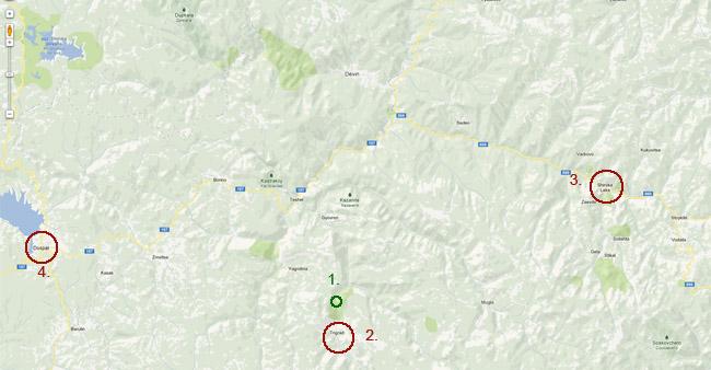 Карта на Триградското ждрело, Триград, България