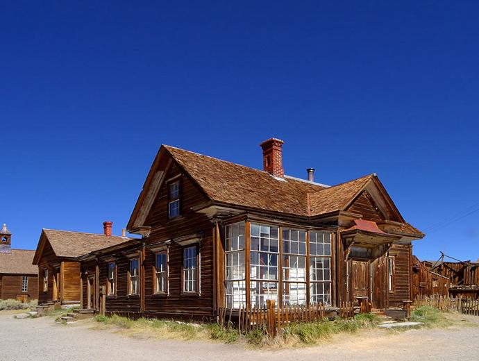 Къща в призрачния град Боди в САЩ.
