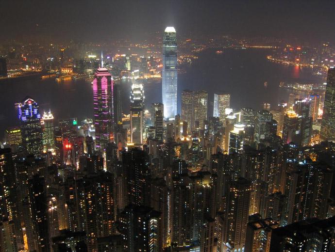 Част от впечатляващите небостъргачи на Хонконг