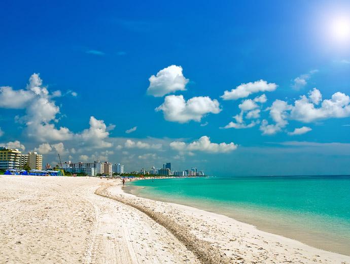 Сайт Бийч в Маями е сред  най-красивите плажове в САЩ.