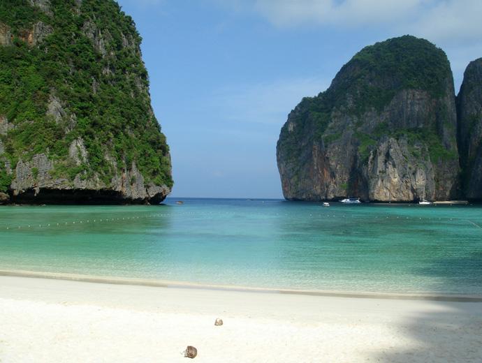 Тропическите плажове на Ко Пи Пи Дон е сред най-красивите плажове в света.