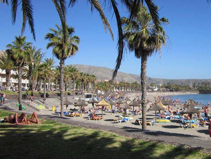 Един от плажовете на Тенерифе, Канарските острови.