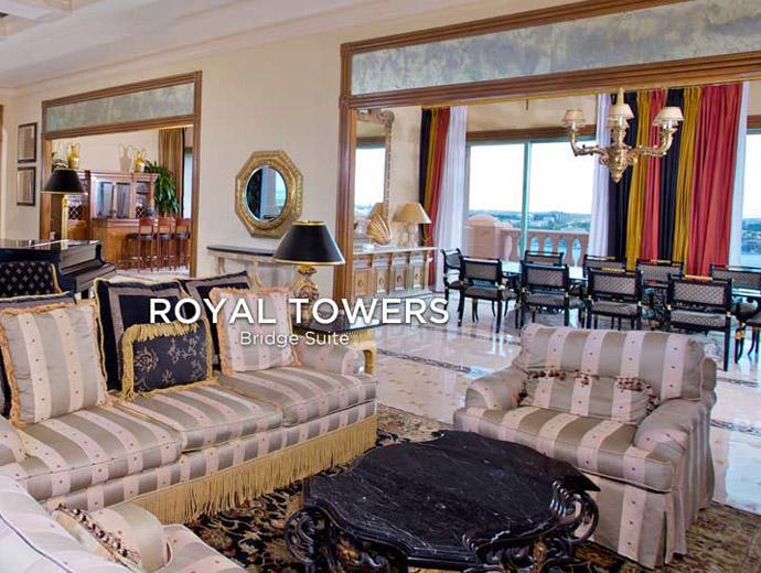 Част от супер луксозното обзавеждане на Royal Towers Bridge Suite от веригата Atlantis.