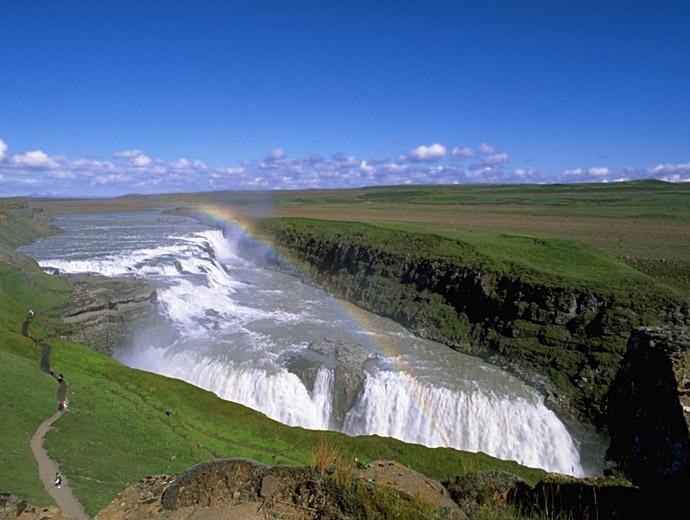 Водопадът Гълфос - една от най-големите туристически атракции в Исландия