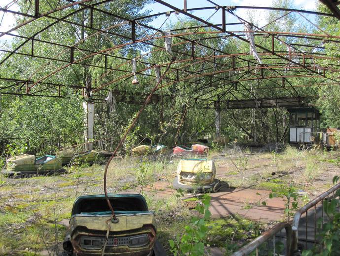 Останки от парк за забавление в Припят