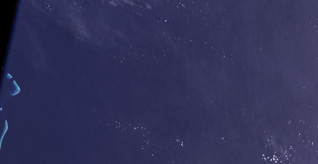 Landsat изображение на предполагаемото разположение на остров Санди