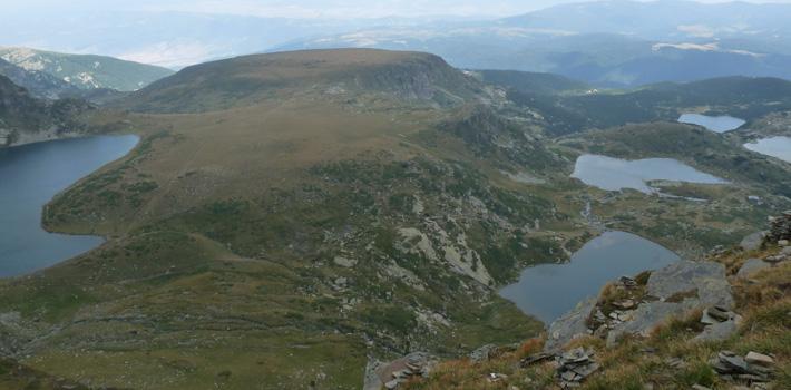 Част от Седемте рилски езера - Бъбрека, Близнака, Трилистника, Рибното и Долното езеро