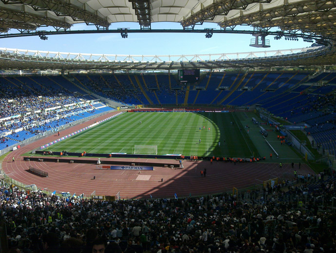 Стадио Олимпико в Рим, домът на грандовете Лацио и Рома