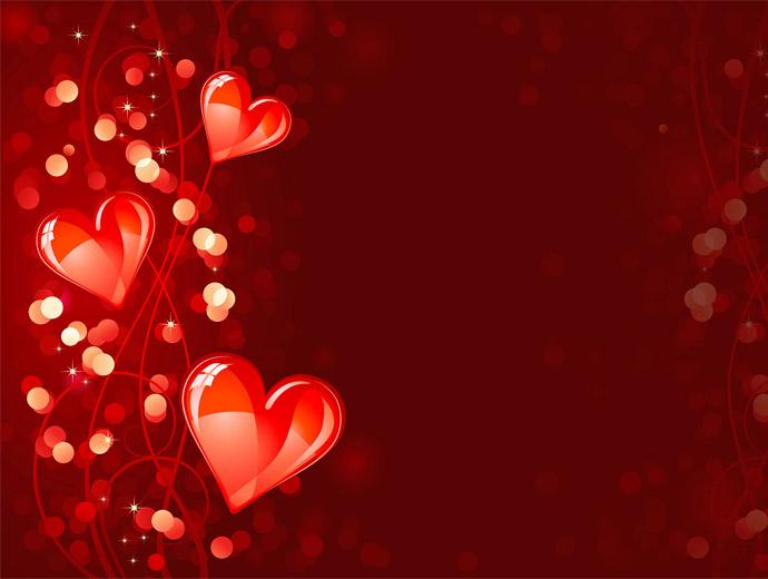 Червени сърца - един от символите на Свети Валентин и любовта.
