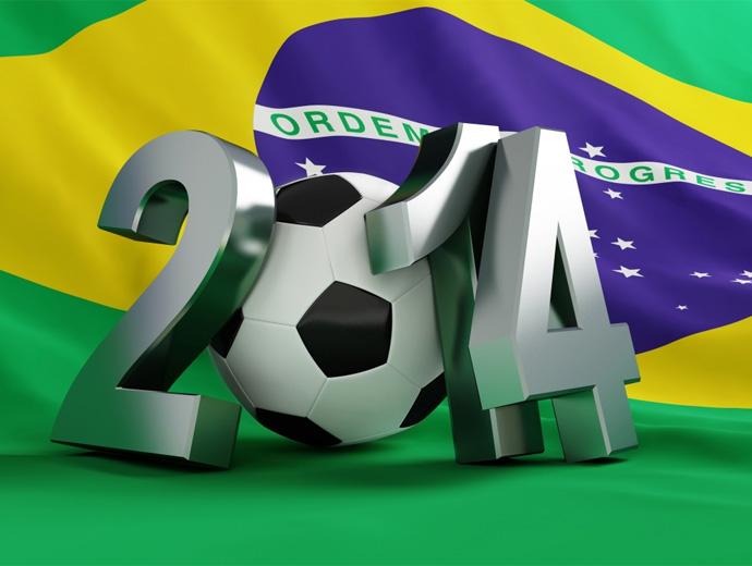 Знамето на Бразилия и футболната топка - символ на топ дестинацията Бразилия през 2014-та година.